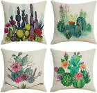 Qiqiany Set Of 4 Cactus Decorative Throw Pillow Covers 18X18 Inches Square Soft