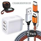 Ailkin Micro USB Cables&Wall Charger Adapter 6 in 1 Travel Organizer Stroage Bag