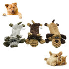 FJ- KF_ Funny Pet Dog Cats Puppy Cattle Pig Plush Doll Sound Interactive Bite Ch
