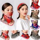 Women Printed Sun Protection Face Cover Neck Gaiter Headband Breathable Novelty