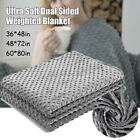 4 Sizes Heavy Cool Weighted Blanket Queen Size Promote Deep Sleep Bed  US image