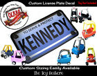 Custom License Plate Decal Sticker Fits Little Tikes Cozy Coupe Car Truck Police