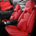 Deluxe Seat Covers Car 5-Sit Front Rear Leather Auto Cushion Universal Interior $85.27 USD on eBay