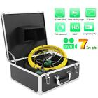 7in LCD 1080P DVR Dual Camera Waterproof For Pipe Sewer Borescopes Inspection