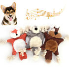 FJ- Puppy Pet Dog Cute Squirrel Fox Shape Plush Doll Sound Paper Squeak Chew Toy