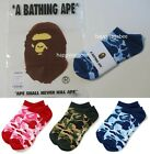 A BATHING APE Goods Men's ABC CAMO SHORT SOCKS 3colors From Japan New