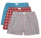 Tommy Hilfiger 3-Pack Men's Woven Cotton Boxer Shorts Dusty Rose Assorted
