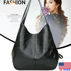 Women Large Leather Shoulder Bag Soft Messenger Satchel Lady Travel Handbag Tote image