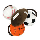 FJ- BL_ Pet Dog Cats Puppy Rope Basketball Football Plush Doll Chew Squeaky Toy