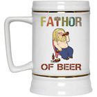 Fathor Of Beer Funny Thor Beer Stein 22oz Mug Gift Dad Daddy Papa Fathers Day