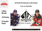 2019-20 SP Authentic Hockey 2 Box Break PICK A TEAM NEW RELEASE CHEAP SPOT #T002 $9.99 CAD on eBay