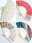 UNIQUE BATIK PRINT BAMBOO FOLDING HAND FAN MEDIUM 9x0.5