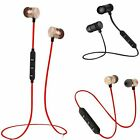 Bluetooth Stereo Headphones Wireless Neck Headset Sport Magnet Earbuds With MIC