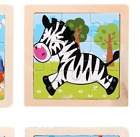 Kids Puzzle Toy Wooden 3D Jigsaw for Children Baby Educational Toy Cute Cartoon