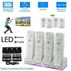 For Wii Remote Controller 4PCS Rechargeable Batteries & Charger Dock Station UK