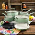 Cookware 10 Piece Pioneer Woman Deluxe Chef Cast Iron Ceramic Teal SHIPS FREE
