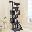 "60"" Cat Tree Condo Tower Kitten Activity Tower Playhouse Furniture Scratch Post"