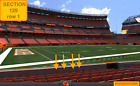 DEPOSIT on 4 Front row Cincinnati Bengals at Cleveland Browns tickets Sec 129