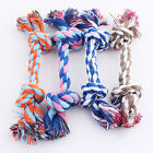 Puppy Dog Pet Toy Cotton Braided Bone Rope Chew Knot 16cm_ TDUK