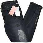 7 For All Mankind Womens Jeans 777 Slim Distressed Zipper Ankle u0115202s