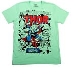 Journey Into Mystery With Thor Marvel Mens Vintage Black 80s 90s T-Shirt Cartoon image