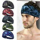 2PC Men Women Sweat Sweatband Headband Yoga Gym Running Stretch Sports Head Band