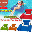 Inflatable Swimming Floating Chair Pool Seats foldable Water Bed Lounge Chairs A