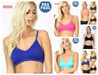 Kyпить Women V-Neck Removable Padded Bralette Seamless T-Shirt Bra Cropped Cami Top на еВаy.соm