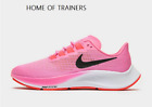 Nike Air Zoom Pegasus 37 Pink White Black Girls Women's Trainers All Sizes