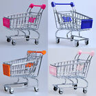 Mini Shopping Trolley Kids Play Toy Cart Supermarket Desk Tidy Storage Chrome
