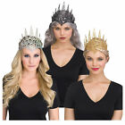 Adult Women Queen Crown Glitter Halloween Costume Metallic Gold Black Silver
