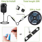 40/20ft Flexible Strip Light 5050 RGB LED SMD Remote Fairy Lights Room Party Bar