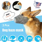 Dog Mouth Mask Anti Smoke Fog Pollution Breathable Muzzle Pet Face Cover 3 Size