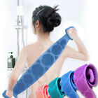 Silicone Bath Towel Dual Side Back Scrubber Belt Body Bath Brush Cleaning Tool