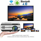 HD 2800lms Portable Projector Blue Tooth Android 7.1 Youtube TV Netflix Movie AU