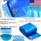6/7ft ft Round Swimming Paddling Pool Cover Inflatable Easy Fast Set Rope 2020