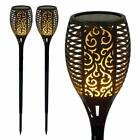 DANCING FLAME SOLAR POWER LED LIGHTS POST GROUND STICK STAKE PATHWAY GARDEN