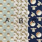 "NEW BABY YODA! Star Wars choose your print 100% Cotton Fabric FAT QUARTER 18""x21"
