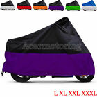 Universal Waterproof Motorcycle Cover For Harley Touring Street Electra Glide US