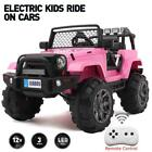 12V Kids Ride on Car Jeep Electric Toys Music Seat Belt Safe Remote Control PINK