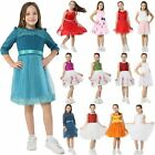 Girls Party Dresses Kids Bridesmaid Princess Costume Hand Sewn Frock Ex Branded