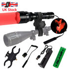 Tactical Flashlight Lamp Hunting Air Rifle Torch Light Scope Mount Green Red C8