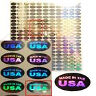 Внешний вид - Made in the USA Hologram Tamper Proof Stickers Labels - Oval (AvR018)