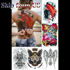 Full Back Temporary Tattoo Large Body Art Waterproof Sticker Fast Ship From USA