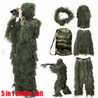 Tactical Camouflage Sniper Ghillie Suit Set Woodland Desert For Jungle Hunting