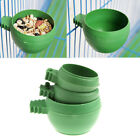 Mini Parrot Food Water Bowl Feeder Plastic Birds Pigeons Cage Sand Cup Feed w/