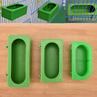 Plastic Green Food Water Bowl Cups Parrot Bird Pigeons Cage Cup Feeding Feed w/
