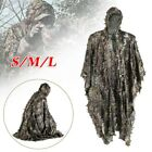 3D Jungle Sniper Hunting Bionic Leaf Camouflage Poncho Ghillie Suit Set