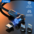 Topk 540° Rotate Magnetic Usb Phone Cable Type C Micro Usb for iPhone Samsung