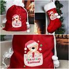 PERSONALISED+RED+VELVET+LUXURY+BABY+1ST+FIRST+CHRISTMAS+TEDDY+SACK+STOCKING